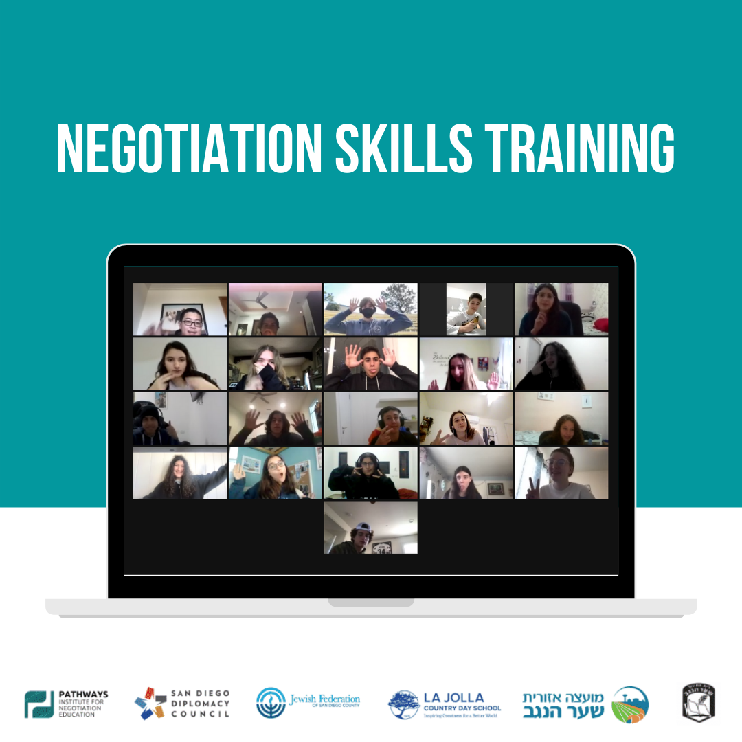 Negotiation Skills & Exchange for Students from San Diego and Sha'ar Hanegev